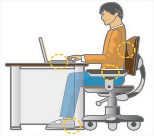 Các tư thế ngồi tránh mỏi khi dùng máy tính