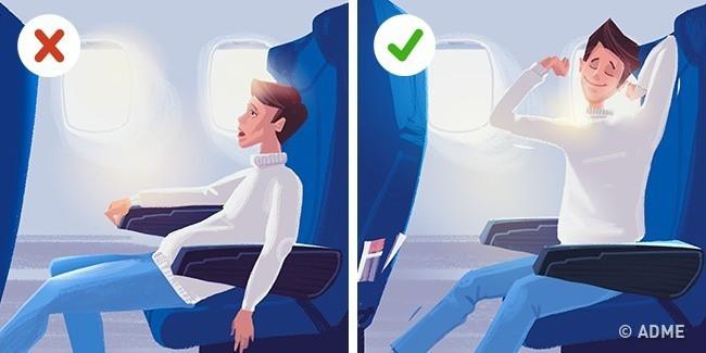 Giáo sư Mỹ tiết lộ tư thế tốt nhất để bạn ngủ trên máy bay