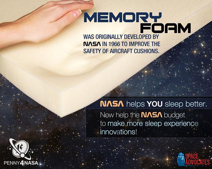 Memory foam NASA