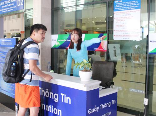 quầy thông tin sân bay