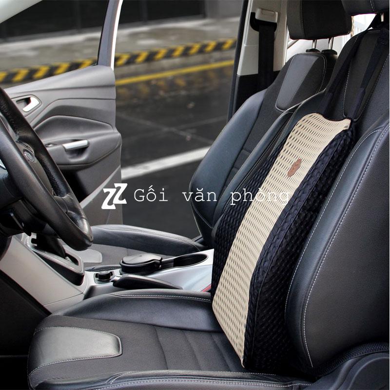 Gối tựa lưng ô tô chuyên dùng chống đau lưng vỏ mát BL100
