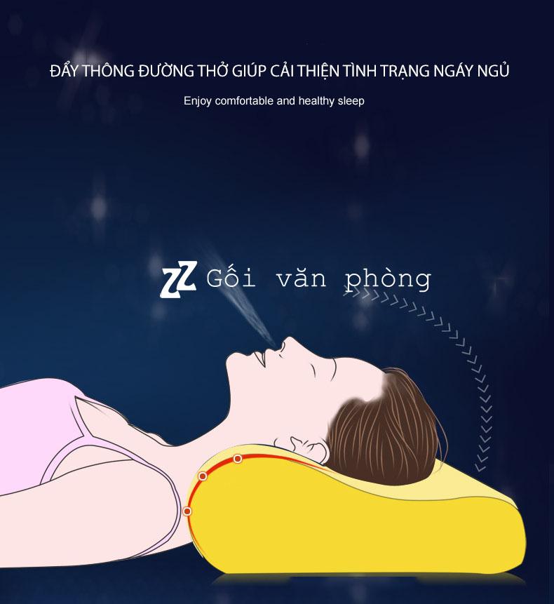 Gối ngủ đau vai gáy
