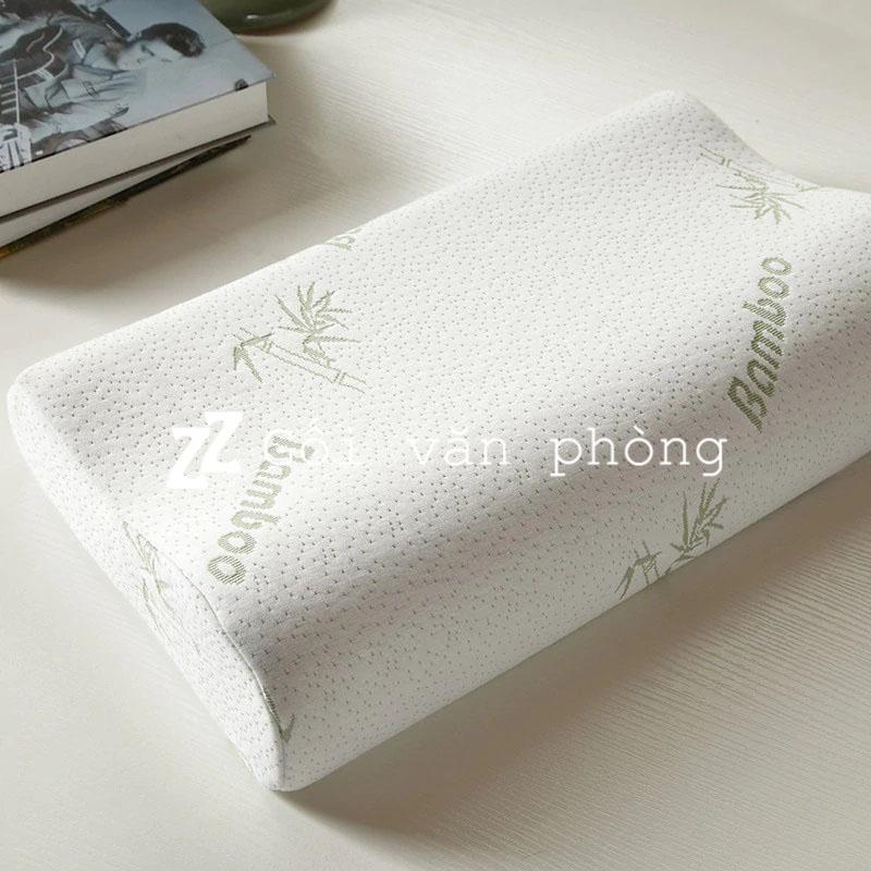 Gối ngủ cao su non vỏ cotton sợi tre GDH-03