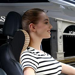 Gối đỡ cổ ô tô cao su non vỏ mát chuyên dùng ghế lái GLC-08