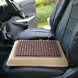 Gối lót ghế vuông cao su non 40x40x5cm hạt trúc mát GLM-01