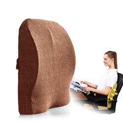 Gối tựa lưng + lót ghế đa năng cao su non đỡ dàn đều lưng GTL-04