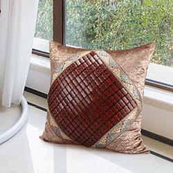 Gối tựa lưng sofa mắt trúc mát vuống 50x50cm GTL-09